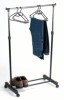 black adjustalbe single bar garment rack