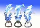dolphin poly resin opener for fridge magnet