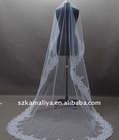 Long Tulle Embroidered Edge Bridal Veils 2011 most popular
