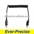 MINI DIN PS/2 Coiled Cable