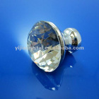 Cut clear crystal glass diamond knob
