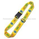 Woven custom luggage belt with buckel