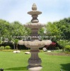 Outdoor stone fountain