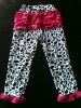 cow print and hot pink ruffle baby cotton pants for baby, baby cotton leggings