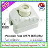 LH574 E27/25A! Porcelain/Ceramic FUSE! different types of fuses