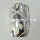 2012 NEW Metallic Artificial Finger nails set with sculpture