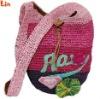rose paper straw bag