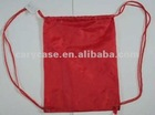 red nylon drawstring bag ,rope pouch bag, hiking carry bag