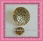 High-grade metal golden mushroom coat dust coat sweater button