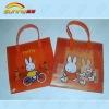 Cute red rabbits' shopping bag