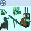 Pipe shredder/crusher line (conveyor type)