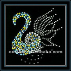 iron on hot fix rhinestone goose motif appliques designs