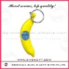 customized banana design soft pvc keychain