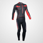 Monton Black Red 2012 Cycling wear long sleeve jersey set accept custom