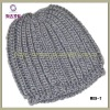 Grey warm hat for men