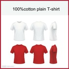 100% cotton plain t-shirts