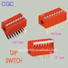 RED DIP SWITCH SW/CGC/GT TYPE sw serials