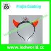 LED flashing plastic devil horns for party