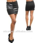 2012 fashion sexy black mini skirt
