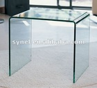 12mm clear curved glass dining table