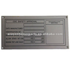 stainless container nameplate CSC plate