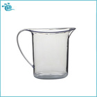 Colorless Crystal clear PS Plastic 750ML Beer and Beverage Pitcher