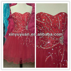 2012 Sexy Stylish Popular Sweetheart Beaded Red Short Cheap Affordable Party Dress Cocktail Dress Gown TP-006