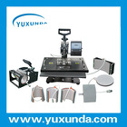 High quality Easy-operation Combo 8 En 1 heat press machine / sublimation machine