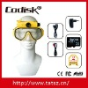 HD720P underwater scuba diving mask digital camera