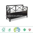 wooden storage bench chair