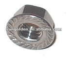 DIN 6923 serrated hex flange nut in hardware