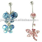Attractive and Fashionable Crystal Gem Belly Buttons