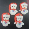 Lovely Cute Snow Man Jewelry Polymer Clay Christmas Pendant