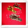 Small Golden decorative curtains curtain hooks
