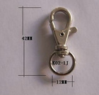 Wholesale K02-1J Zinc Alloy seat belt buckle with 42.5mm length and 12mm width eye
