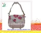 China latest design PU leather handbag long shoulder peony lady bag handbag