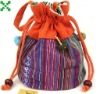 cotton colorful mommy drawstring shopping bags