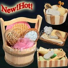 OEM Promotional Natural Wooden Bath Set