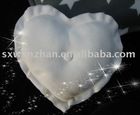 100% polyester polar fleece heart-shaped back cushion