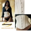 2 Layers white steel boned Satin corset CST-9244