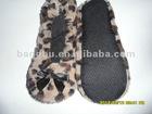 foldable leopard pv pile women dancing shoes