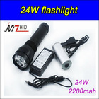 24W 2000lumen hid camping light,Rechargeable Hid Flashlight