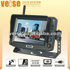 5 inches car lcd monitor Built-in 4 CH 2.4GHz Wireless Receiver