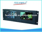"""7""""x2 dual rack mount monitor with hdmi input&output for broadcast"""
