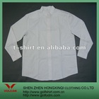 100% Cotton White Color Turtle neck Men Office Shirt Design