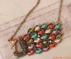 occident fashion vintage necklace jewerly peacock necklace pendant