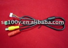 2.0*6P black waterproof camera cable