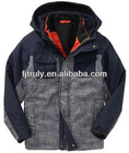 gray long sleeve woven winter boy hoodie wholesale clothing manufacture