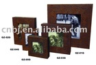 crocodile grain PU leather photo frame