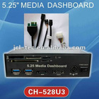 "5.25"" Front Panel PCI Express PCI-E To USB 3.0 2 port HUB+all-in-one USB2.0 Card Reader SATA eSATA"